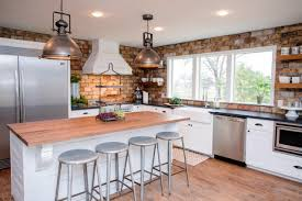 kitchen kitchen island and bar stools with industrial pendant