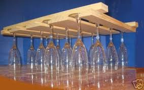 hanging wood wine glass rack new large beveled item 185