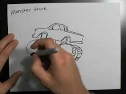 how to draw a monster truck drawing ideas youtube