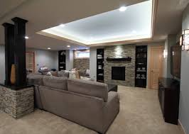 Stone Wall Living Room Basement Stacked Stone Wall Decorating Ideas Basement Masters