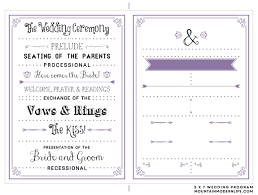 diy wedding ceremony programs 27 free wedding program templates you ll