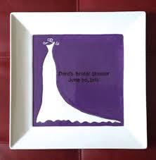 bridal shower autograph plate bridal shower guest book plate shower gift shower