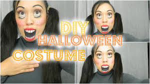 diy halloween costume 2017 easy diy halloween costumes creepy doll makeup tutorial youtube