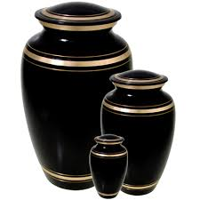 funeral urn black with gold cremation urn sets memorial gallery