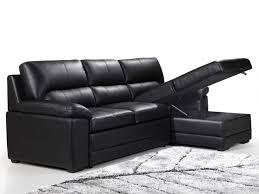 canapé d angle convertible cuir canape d angle cuir noir maison design wiblia com