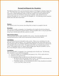 formal lab report template 8 formal lab report template model resumed