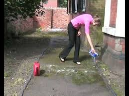 How Do I Clean My Patio Removing Moss With Soda Crystals Youtube