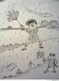 pencil sketch of a rainy day desipainters com