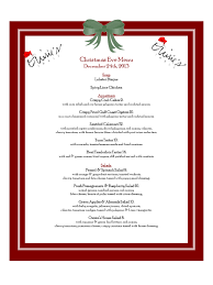 christmas dinner menu template 2017 best template examples