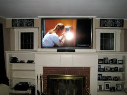 home theater wire concealment glastonbury ct 40 u2033 tv installed above fireplace with wires