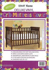 Vinyl Crib Mattress Deluxe Vinyl Fitted Crib Mattress Cover 28 X 52