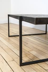 hammered steel coffee table room