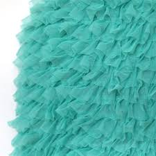 teal tulle layers of luxe pleated tulle ruffle
