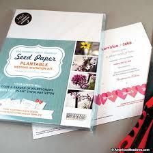 do it yourself wedding invitation kits do it yourself seed wedding invitation kit american