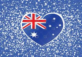 Austrslia Flag Heart Shaped Australia Flag Royalty Free Vector Clip Art Image