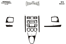 renault clio symbol clio symbol 10 2008 декоративные накладки приборной панели