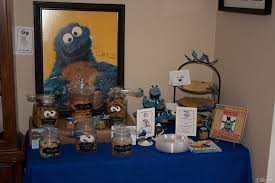 cookie monster table decorations cookie monster party party down pinterest monster party