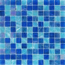 aquatic ocean blue 1x1 squares bathroom wall tile pinterest