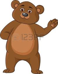 imagenes animadas oso ilustración vectorial de color marrón oso de dibujos animados