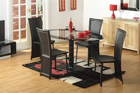 Wooden Dining Set With Glass Top Awesome Oval Dining Table Set Glass Top Cool Black Chairs Advice