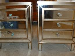 Silver Leaf Nightstand Furniture 93 Borghese Mirrored Nightstand Mirrored Nightstand