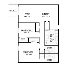 master bedroom and bath floor plans apartments floor plans with 1 or 2 bedrooms of baton