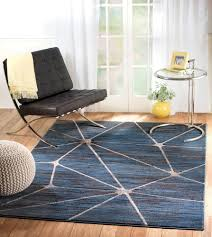 Zen Area Rugs Zen 02 Blue Geometric Area Rug Buy Rite Rugs