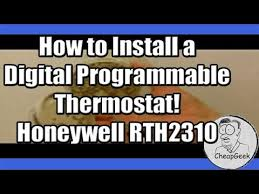 how to install a digital programmable thermostat a honeywell