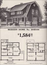 dutch colonial home plans dutch colonial revival sears modern home no 264b164 shed dormer