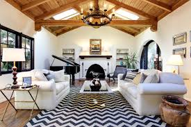 Black Chevron Area Rug Earlmont House Rustic Living Room Los Angeles By S Wiley