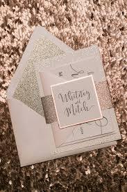 Blush Wedding Invitations Rose Gold Foil Wedding Invitations Digital And Foil Printing
