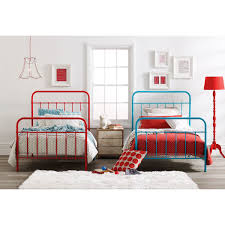 Single Bed Iron Frame Vintage Inspired Rooms Metal Beds Beds And Bed Frames
