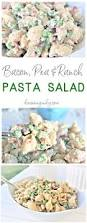 creamy bacon pea and ranch pasta salad quick and easy side dish