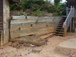 Small Yards Made Big With Retaining Walls - Timber retaining wall design