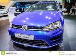 volkswagen geneva volkswagen golf r variant motor show geneve 2015 editorial image