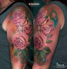 flower rose old traditional tattoo elle gottzi fehu ink