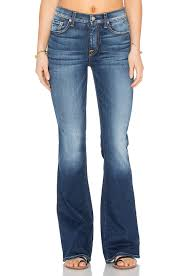 High Waist Bootcut Jeans 7 For All Mankind High Waist Vintage Bootcut In Blue Lyst