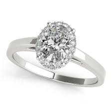 engagement rings simple stylish oval cut halo engagement ring