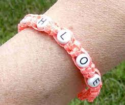 easy name bracelet images Free cross stitch needlepoint crochet projects jpg