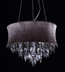 gray drum pendant light smoke grey crystal drum chandelier light pendant l ceiling