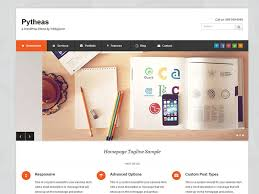 pytheas free wordpress theme for corporate portfolio