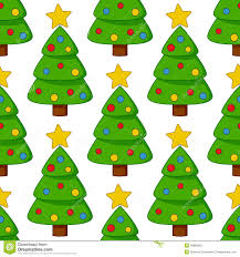 cartoon christmas tree seamless pattern stock vector image 46888283