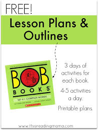 lesson plans outlines bob books 4