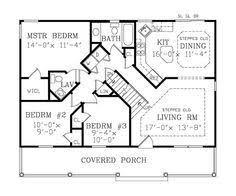 Small Cottage Floor Plan Small Cottage Style House Plan 3 Beds 2 Baths 1300 Sq Ft Plan