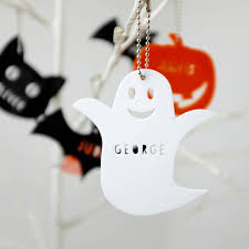 personalised acrylic halloween decorations by auntie mims