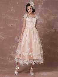 milanoo brautkleider vintage brautkleid rückenfrei hochzeitskleid kurz mit illusion