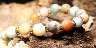 cross stone bracelet images Natural amazonite stone cross bracelet hints for prayerful pause jpg