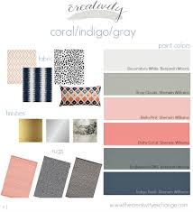 color palette inspiration happy dusty blue orange grey and