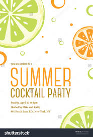 Cocktail Party Invitation Card Summer Cocktail Party Invitations Redwolfblog Com