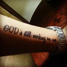 god quotes tattoos